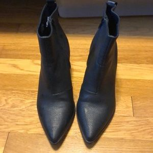 Pointed toe booty heels